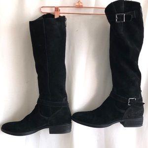 Sam Edelman 'Painter' Black Suede Boots